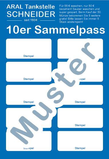 Sammelpass - Tankstelle Schneider